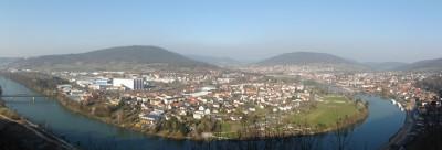 Blick über das Maintal und Miltenberg